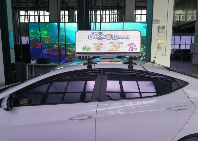 IP67 3G Taxi Led Sign Advertising Light Box For Outdoor Car Advertisement